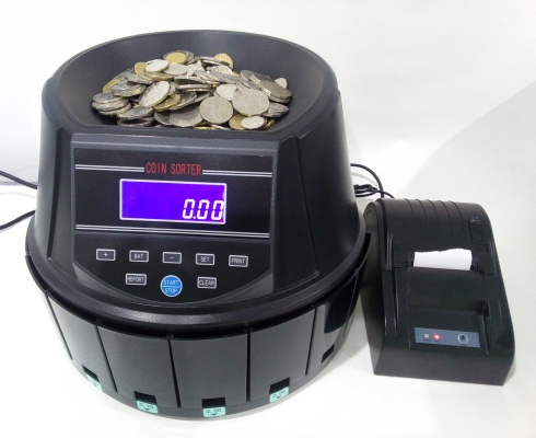 ON SALEwas $875 AUS960 COIN COUNTER/SORTER HEAVY DUTY with Print