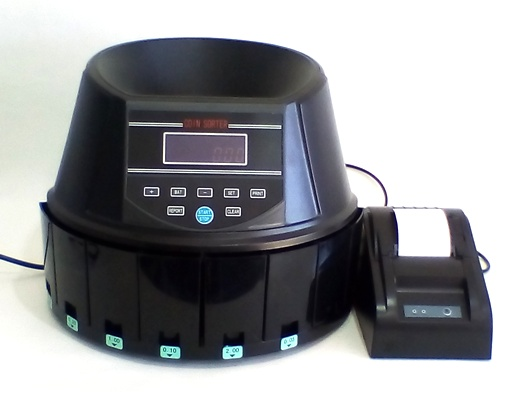 AUS960A COIN COUNTER/SORTER H/DUTY with PRINTER PACKAGE